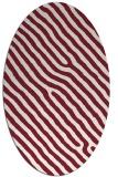 rug #419549 | oval pink animal rug