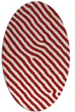 rug #419585 | oval red animal rug