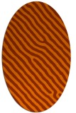 rug #419593 | oval red-orange stripes rug