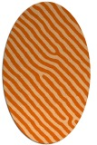 rug #419597 | oval red-orange animal rug