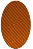 rug #419601 | oval red-orange animal rug
