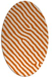 rug #419605 | oval red-orange animal rug