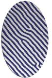 rug #419617 | oval white animal rug