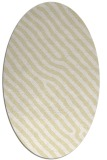 rug #419629 | oval white stripes rug
