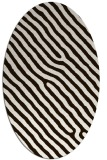 rug #419633 | oval brown stripes rug