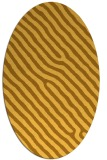 rug #419641 | oval light-orange animal rug