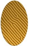 rug #419641 | oval yellow stripes rug