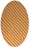 rug #419653 | oval orange rug