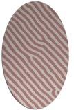 rug #419677 | oval pink animal rug