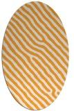 rug #419685 | oval light-orange stripes rug
