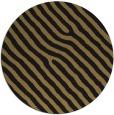 rug #420061 | round mid-brown stripes rug