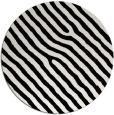 rug #420313 | round black stripes rug