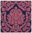 rug #420837 | square blue-violet damask rug