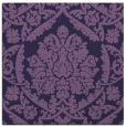 rug #420841 | square blue-violet damask rug