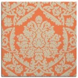 rug #420941 | square orange damask rug