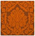 rug #421009 | square red-orange damask rug