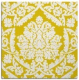 rug #421045 | square yellow damask rug