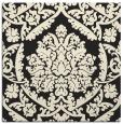 rug #421053   square black traditional rug