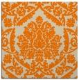 rug #421061 | square orange damask rug