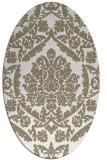 rug #421097 | oval white damask rug