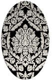 rug #421101 | oval white traditional rug