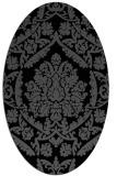 rug #421105 | oval black traditional rug
