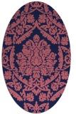 rug #421189 | oval blue-violet traditional rug
