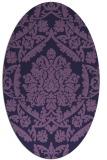 rug #421193   oval purple traditional rug