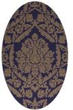 rug #421205 | oval beige damask rug