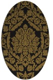 rug #421213 | oval black traditional rug
