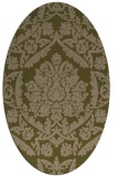 rug #421217   oval brown damask rug
