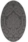 rug #421245 | oval brown rug