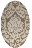 rug #421249 | oval mid-brown rug