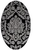 rug #421270 | oval damask rug