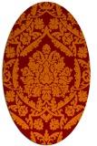 rug #421286 | oval damask rug