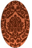 rug #421297 | oval red-orange damask rug