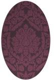 rug #421321 | oval purple damask rug