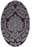 rug #421333   oval purple damask rug