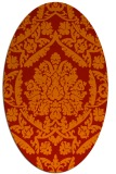 rug #421341 | oval red damask rug