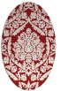 rug #421345 | oval red traditional rug