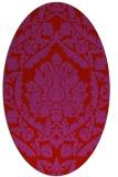 rug #421349   oval red damask rug