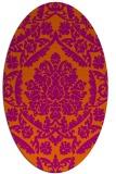 rug #421364   oval damask rug