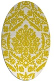 rug #421373 | oval white traditional rug