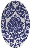 rug #421377 | oval white traditional rug