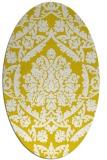 rug #421397 | oval white damask rug