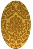 rug #421401 | oval light-orange damask rug