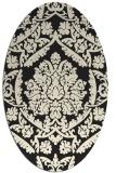 rug #421405 | oval black traditional rug