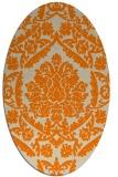 rug #421413 | oval beige damask rug