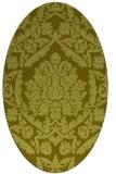 rug #421417 | oval light-green rug