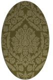 rug #421429 | oval light-green rug